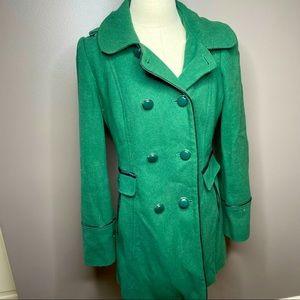Stunning green pea coat | Kensie